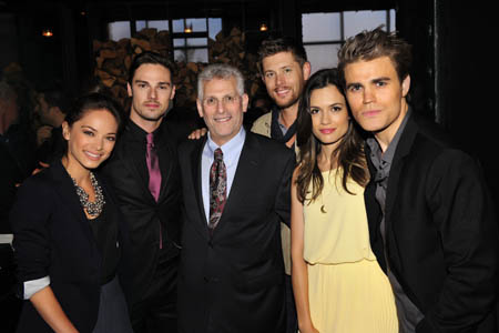 Pictured L R Kristin Kreuk And Jay Ryan BEAUTY AND THE BEAST Mark Pedowitz President The CW Jensen Ackles SUPERNATURAL Torrey DeVitto