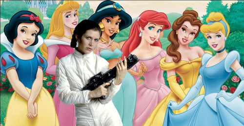 star wars princess leia joins disney princesses in beauty and the