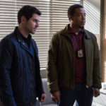 "GRIMM -- ""The Taming of the Wu"" Episode 519 -- Pictured: (l-r) David Giuntoli as Nick Burkhardt, Russell Hornsby as Hank Griffin -- (Photo by: Scott Green/NBC)"