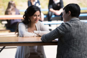 """ONCE UPON A TIME - """"Strange Case"""" - The Evil Queen and Hyde continue on their quest to steal Dr. Jekyll's serum; Snow looks forward to her first day back as a school teacher; and while Emma looks forward to Hook moving in with her, Hook finds himself trying to protect Belle from Mr. Gold, who has made sure she can't leave the confines of the pirate ship. Meanwhile, back in the past, Rumplestiltskin helps Dr. Jekyll complete his serum to separate a man's personality into two - good and evil - but his help comes with a hefty price, on """"Once Upon a Time,"""" SUNDAY, OCTOBER 16 (8:00-9:00 p.m. EDT), on the ABC Television Network. (ABC/Jack Rowand) KAREN DAVID, GINNIFER GOODWIN"""